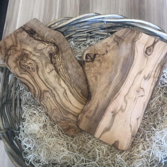 Olive Wood Cheese Board 30cm x 15 cm |  30x18cm Dark Wood
