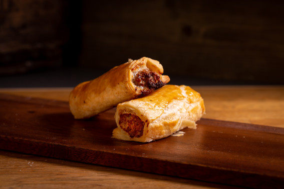 Homemade Sausage Roll (Vegan opt. available)