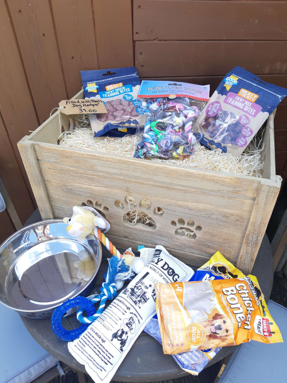 Deluxe Dog Gift Hamper Toy Box