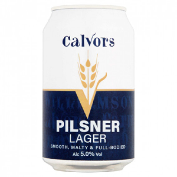 Calvors Pilsner Lager 5.0%abv 330ml