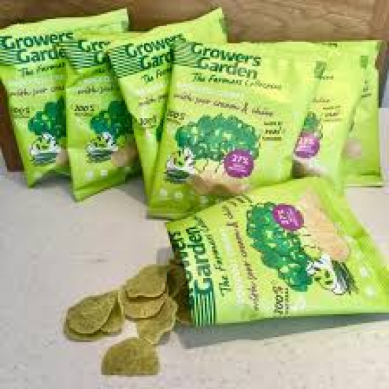 Growers Garden Broccoli Crisps 22g | Naked