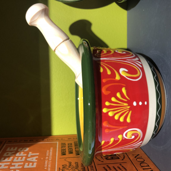 Hand Painted Mortar & Hand Carved Pestle
