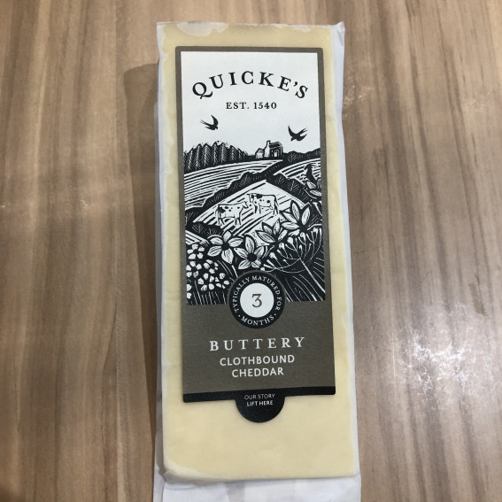 Quickes Buttery Cloth bound Cheddar 175g
