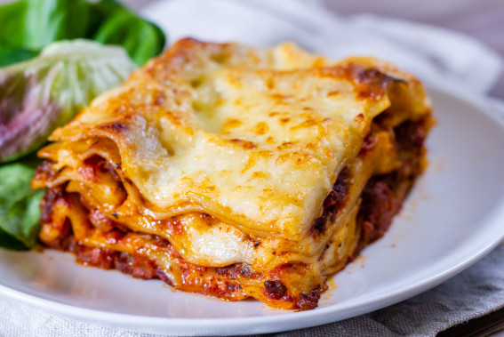 A Slice of our Homemade Beef or Vegetable Lasagne